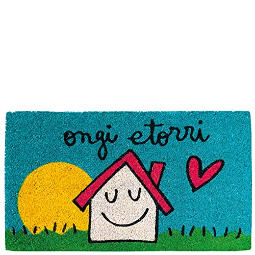 Laroom Felpudo casa & Sol ongi etorri, Multicolor, 40x70xH1,8cm