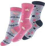 Cotton Prime 6 Pares de Calcetines para niña con estrellas y los puntos