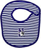 Northwestern University Wildcats Striped Baby Bib