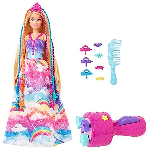 Barbie GTG00 - Dreamtopia Twist 'n Style Prinzessin Haarstyling Puppe mit Zubehör, Geschenk für Kinder von 3 bis 7 Jahren