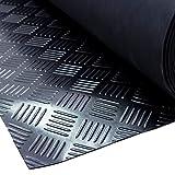 VARGORT Estera Antideslizante de Caucho, Suelo goma para usos generales e industriales 1 Mts (Anch) x 5 Mts(Larg) x espesor 3mm