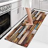 AIYOUVM Läufer Küche Waschbar (108 Größen und 5 Farben) Teppiche Flur rutschfest Weiche Oberfläche Einfach zu Säubern, Teppichläufer für Wohnzimmer Flur Küche 80x220cm