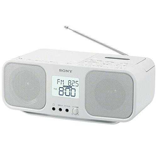 ソニー CDラジオカセットレコーダー CFD-S401 : FM/AM/ワイドFM対応 大型液晶/カラオケ機能搭載 電池駆動可能 ホワイト CFD-S401 W