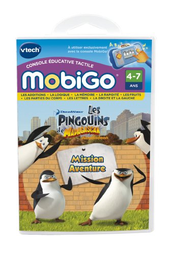 Vtech–250305–Elektronische Lernspiel–Spiel Mobigo–Die Pinguine aus Madagascar