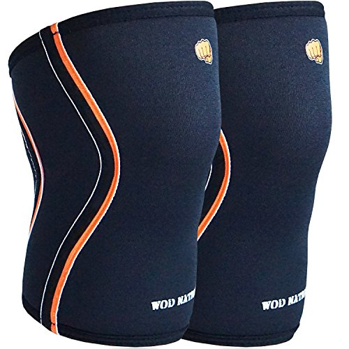 WOD Nation Knee Sleeves for Weightlifting (1 Pair) Premium Support & Compression - Powerlifting & Weight Lifting - 5mm Neoprene Sleeve for The Best Squats - Fits Both Women & Men