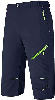 BIYLACLESEN Quick Dry Lightweight Cropped Trousers 3/4 Long Cargo Capri Shorts