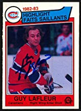 Guy Lafleur Autographed Memorabilia 1983-84 O -Pee -Chee Card #183 Montreal Canadiens 150232 - Certified Authentic