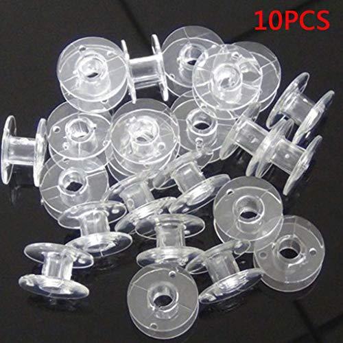 dayertiy 10pcs Nähmaschine Bobbins Kunststoff Nähen Spulen für Nähgarn,As Shown,