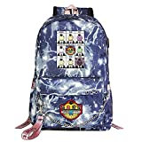 ZZGOO-LL Assassination Classroom with Chain USB Mochila Backpack Casual Impermeable Viaje de Negocios con Unisex Blue-E