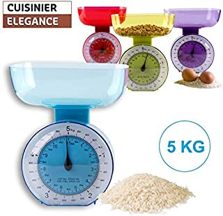 Balanza de cocina estilo retro, 5 kg, calibre fácil de medir morado