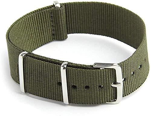 Hinleise Correa de reloj de nailon militar para buceo G10 para hombre