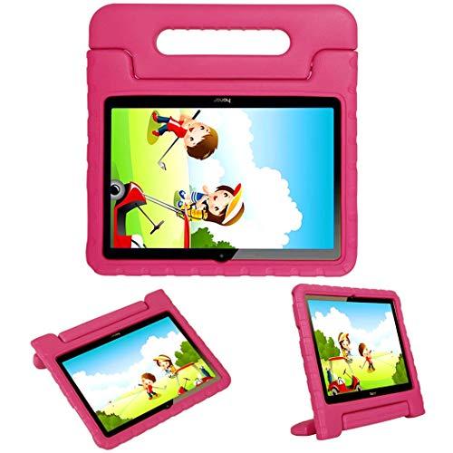 iMoshion kompatibel mit Huawei MediaPad T3 10 inch Hülle – Tablethülle für Kinder – Tablet Kids Case in Pink mit Handgriff und Ständer [Robust, Griffig, Stoßfest]