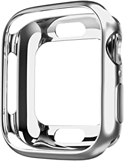 hoco. Plated Protective Bumper Case Ultra-Thin Scratch-Resistant Flexible Slim Lightweight TPU Cover, compatible with Apple Watch iWatch Series 3 Series 2 (Silver, 42mm)