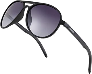 Sponsored Ad - FEISEDY Classic Military Polarized Aviator Sunglasses Men Flexible TR90 Frame TAC Lenses B2608