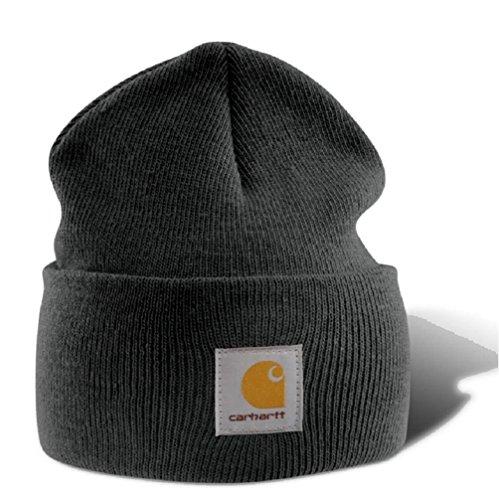 Carhartt Wintermütze für Sie und Ihn, OFA, 100{faba5f876c960d0af8598a35312bb37fe9e2a45c462f615058c4e91466d90ee1} Polyacryl,elastisch, Grau, Einheitsgröße