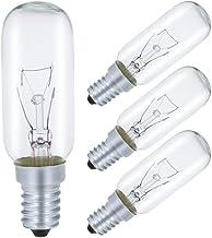 40W fornuis kap gloeilamp, Comyan E14 SES toestel lamp 320lm, T25 buisvormige gloeilamp 2700K warm wit, dimbaar - 4Pack