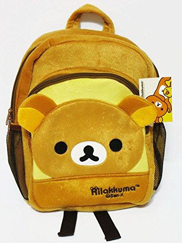 Rilakkuma 12x9' Plush Brown Backpack Bookbag School Bag