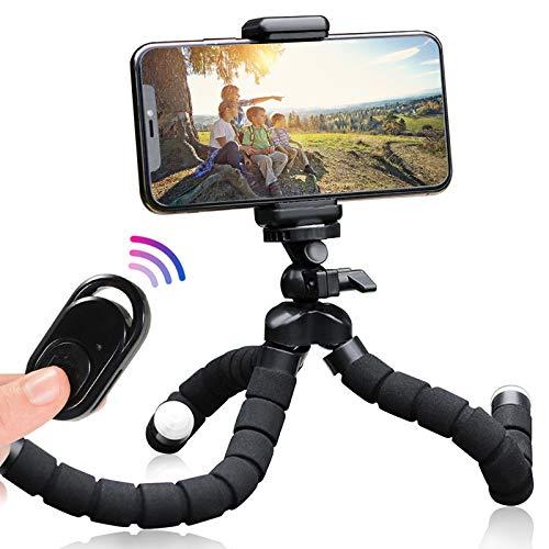 Oktopus - Trípode para teléfono móvil, trípode para cámara y cualquier smartphone (S-250 mm), color negro