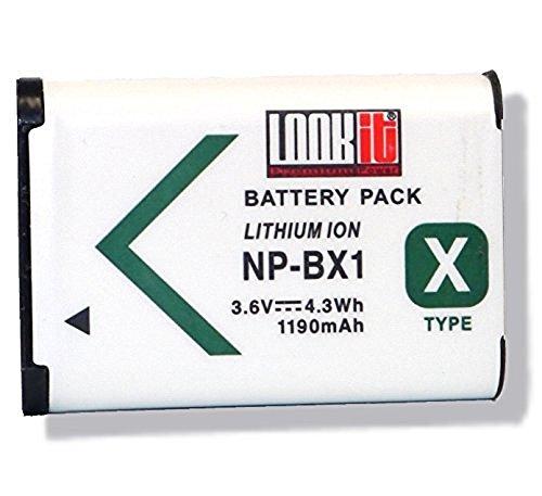 LOOKit Markenakku NP-BX1 (1190 mAh, 3.6V) für Sony HX350, Sony DSC-RX100 V, Sony FDR-X3000R, Sony HDR-AS300R, Sony HX350, Sony DSC-RX100M5, Sony HX80B / Sony RX100 IV / Sony HDR-AS50 / Sony HX90 V / RX100 III / RX1R / HDR-AS100V