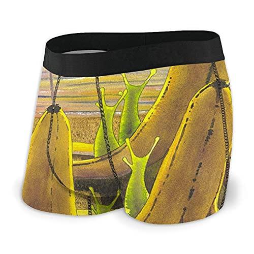 Banana Slug - Calzoncillos tipo bóxer para hombre (transpirables, elásticos)
