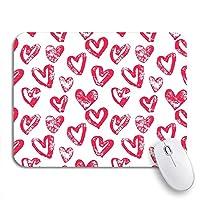 NINEHASA 可愛いマウスパッド ノートパソコン、マウスマット用の14ノンスリップラバーバッキングマウスパッドのピンクバレンタインのバレンタインデーハートパターン