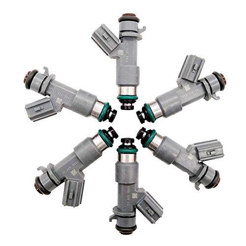 Germban 16450-R70-A01 6pcs Fuel Injectors 12 Holes Fits for 2008-2017 Accord 2010-2012 Crosstour 3.5L 2012-2014 Acura MDX RDX ZDX TL RL TSX 3.5L 3.7L FJ982
