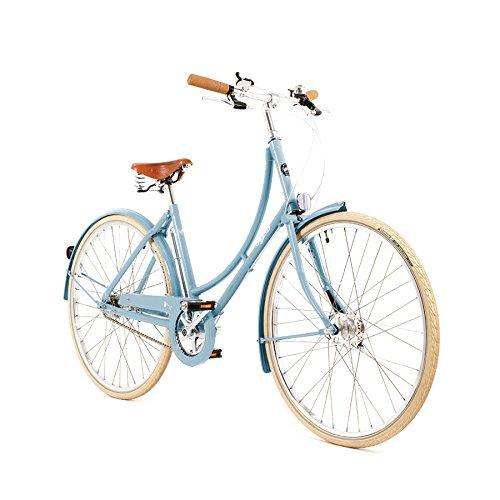 Pashley Poppy Damenrad - Elegante Sachlichkeit - leichtes und beschwingtes Radfahren - frische Farben - 3-Gang-Nabenschaltung, Rahmen 20'', Hellblau chic - leicht - bequem