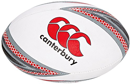 Canterbury Mentre Rugby Ball - Flag Red/Black, Size 5