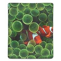 マウスパッド ノートパソコン オフィス用 ゲーム用 魚海アネモネサンゴカクレクマノミ (180*220*3mm)防塵 耐久性 滑り止め 耐用