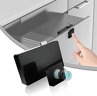 FANZI Fingerprint Lock,Smart Cabinet Locks,Biometric Keyless Furniture Drawer Cabinet Wardrobe Fingerprint Locks for Drawe...