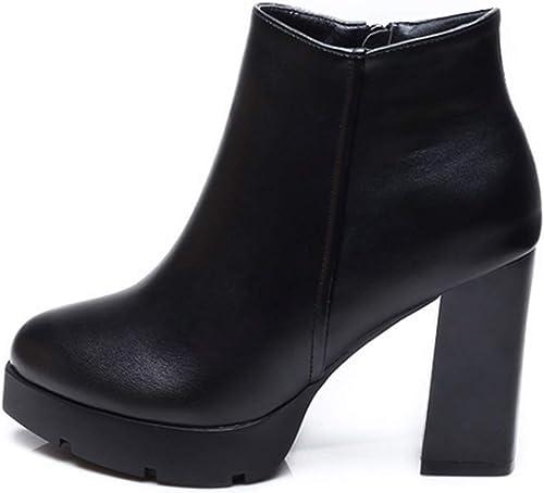 HBDLH Chaussures pour Femmes Martin Bottes Mesdames Talons Hauts Bottes Nu Dames Bottes Bottines Bottes Chaussures De Femmes 9Cm