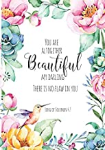 You Are Altogether Beautiful My Darling There Is No Flaw In You: Song of Solomon 4:7: Bible Verse Notebook, Composition Book Journal For Women and ... Journal, 7