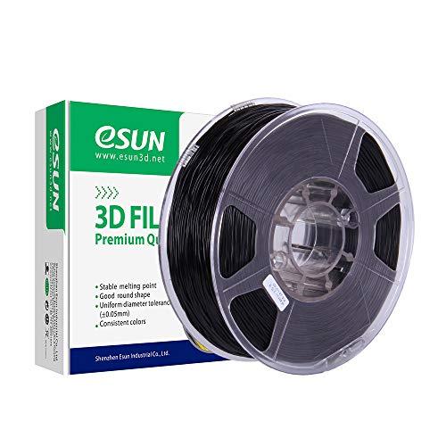 eSUN Flexible TPE Filament 1.75mm, TPE 83A 3D Printer Filament, Dimensional Accuracy +/- 0.05mm, 1KG (2.2 LBS) Spool 3D Printing Filament for 3D Printers, Black