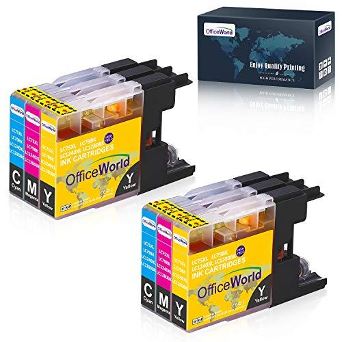 OfficeWorld Kompatible Patronen Ersatz für Brother LC1240 LC1280 Tintenpatronen Kompatibel mit Brother MFC-J280W, MFC-J425W, MFC-J430W, MFC-J435W, MFC-J5910DW, MFC-J625DW (2 Cyan, 2 Magenta, 2 Gelb)