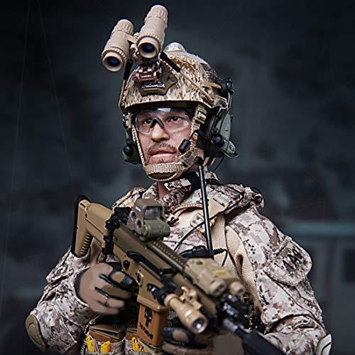 HYZM Figura de acción de soldado a escala 1/6, modelo de soldados de 12 pulgadas, figura militar móvil - U.S. Army Navy Seals Militar figura
