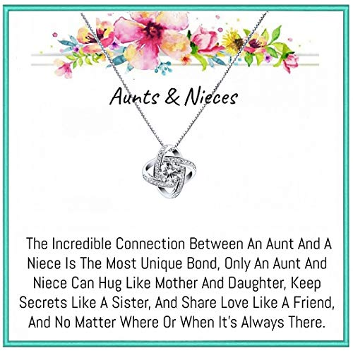 Onepurposegifts Aunt& Nieces necklace, jewelry for birthday, Christmas, and holiday(New Zirconia)