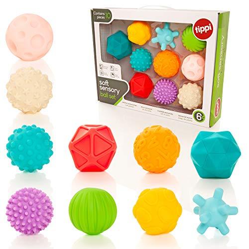 Tippi 10 Soft Sensory Play Ballset - Baby- oder Kleinkindspielzeug