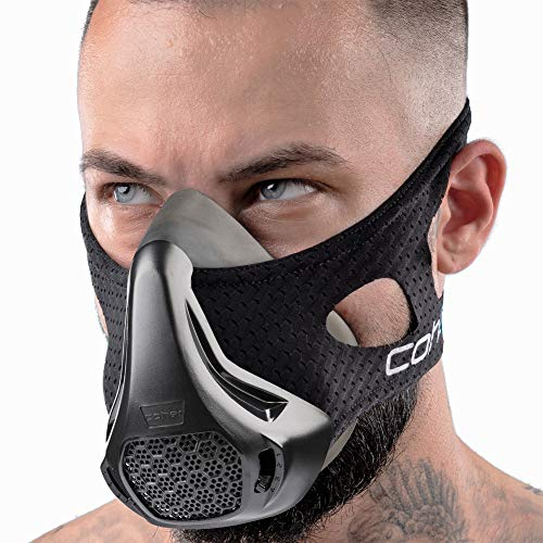 coher Training Mask Workout Breathing Mask for Men and Women - Adjustable Resistance Levels - Increase Lung Capacity and Endurance - Ideal for Jogging, Sports, Cycling, Fitness