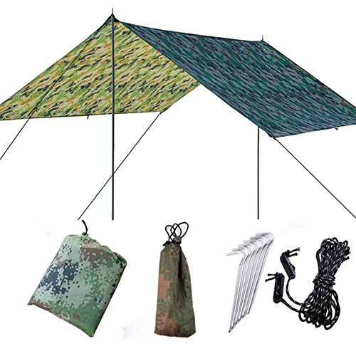 No/Brand Waterproof Sun Shelter Awning Tent Tarp 3x3m,Outdoor Sun Shade Camping Hammock Rain Fly Anti UV Beach Tent Shade Camping Sunshade Canopy