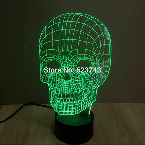 Farbwechsel 3D handgefertigte Kopf LED Nachtlichter mit USB Tischlampe für Kind Spielzeug