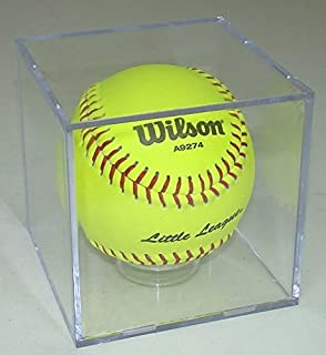 SOFTBALL CUBE DISPLAY CASE with Stand for 11