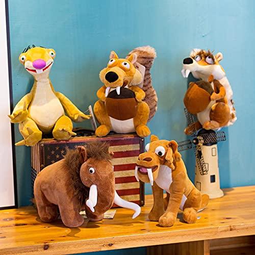 Ice Age Doll, Plush Toy 20cm Ice Age Sid Plush Toy Funny And Cute Animal Doll Squirrel Scart Manny Diego Sloth Plush Toy sloth