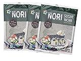 Organic 30 Full Size Sheet KIMNORI Sushi Nori Premium Roasted Seaweed Rolls Wraps Snack 0.88 OZ ( 25g ) Laver, USDA ORGANIC, Gluten Free, No MSG, NON-GMO, Vegan (10 Sheet X 3 Pack)