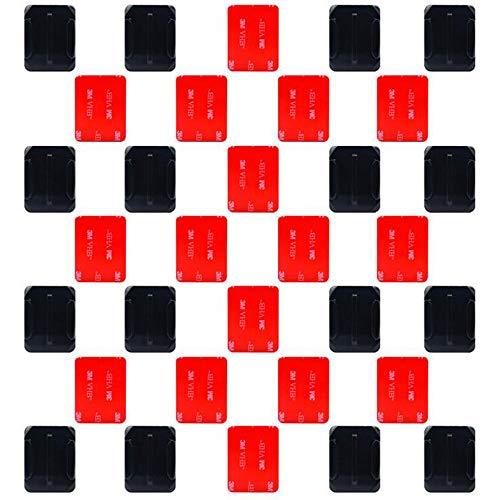 Xinlie Klebepad Helm Halterung Klebehalterung Flache Gebogene Klebepads Pads 3M Helmbefestigung aus 3M Kleber Kompatibel mit GoPro Hero 6, 5, 4, Session, 3 +, 3, 2, 1 Kameras(32 stück)