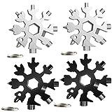Snowflake Multi Herramienta 18 en 1, 4 piezas Herramienta Multiherramienta de copo de nieve con...