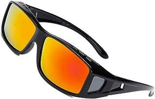 85de205ac SHEEN KELLY Conducción Gafas de Sol Polarizadas Rectangular Fit Over  Glasses con Protector Lateral Lente de