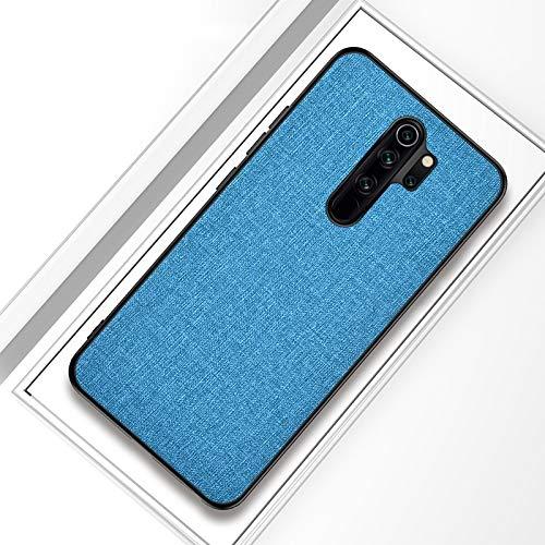 Liluyao Funda telefónica para Xiaomi For el Caso Protector de TPU 8 Textura PC + Pro a Prueba de Golpes de Tela Xiaomi redmi Nota (Color : Sky Blue)