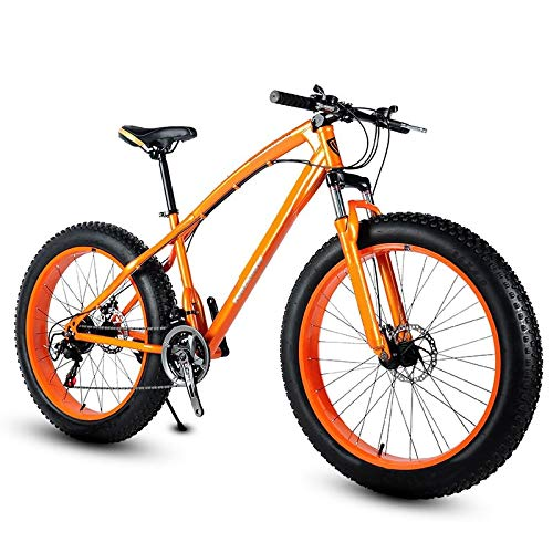 ZJBKX Bicicleta De Montaña De 26 Pulgadas, Offroad Snow Beach 4.0 NeumáTicos Ultra Anchos Estudiantes Masculinos Y Femeninos Bicicleta De Velocidad Variable para Adultos 21speed