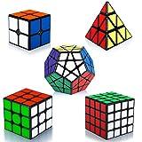 Maomaoyu Rubiscube Speed Cube ,Cube de Vitesse Pack de 5,Ensemble de Cubes 2x2 3x3...