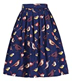 1950s Style Skirt Knee Length for Women Size S CL010401-5